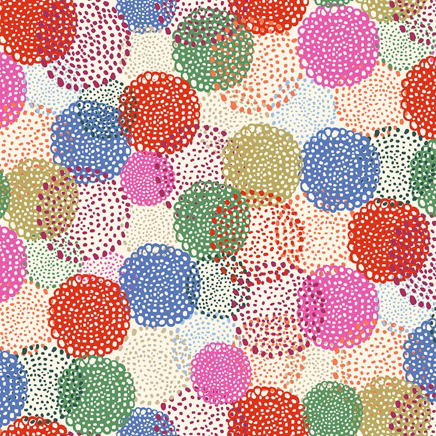 Marisol Dotted Floral Ivory
