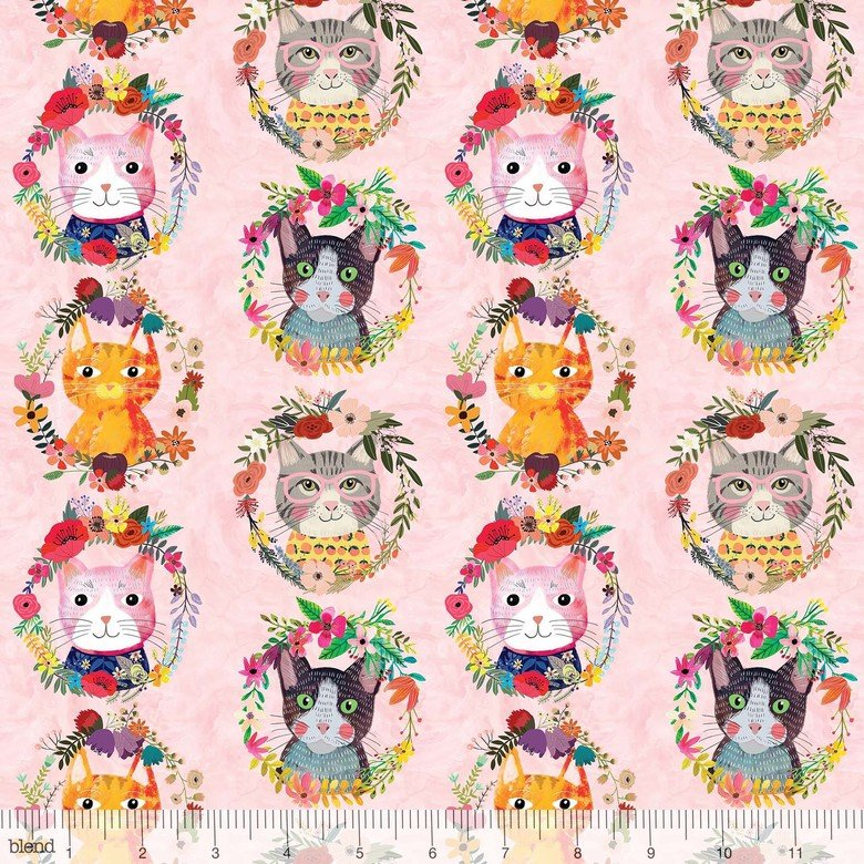 more floral pets - Kitty Wreaths Pink