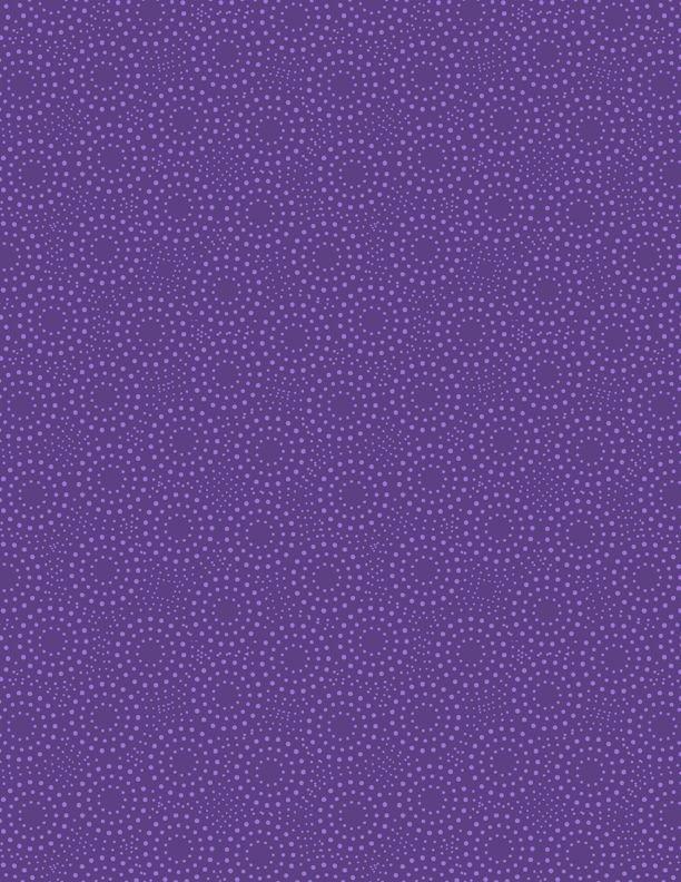Essentials Grape Crush Dotted Circles Med. Dk. Purple