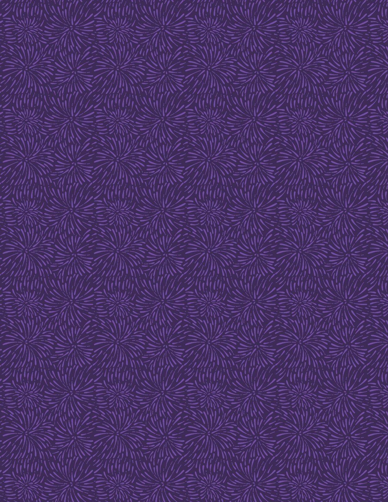 Essentials Grape Crush Firework Blooms Darkest Purple