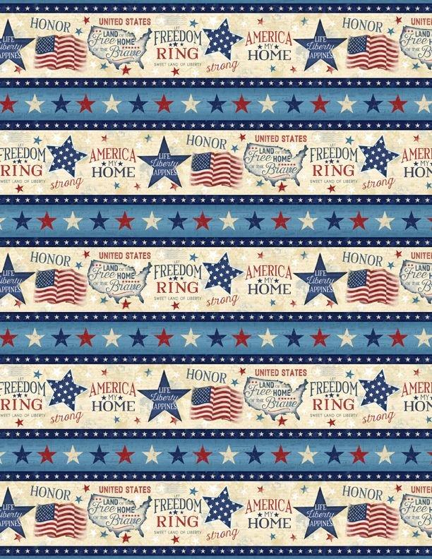 America My Home Border Print