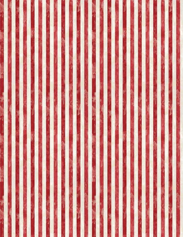 America, My Home Stripes Red/White