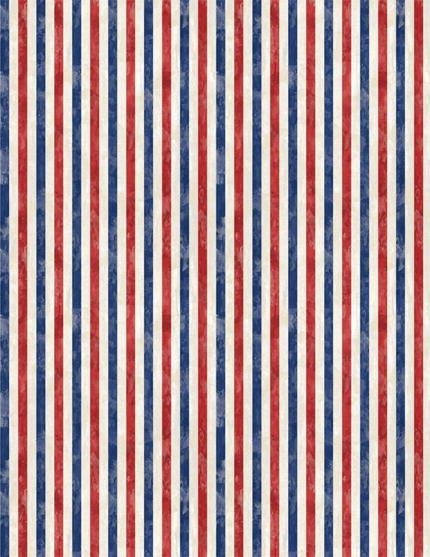 America My Home Stripes Red/Blue