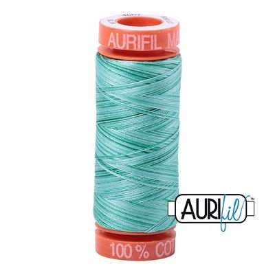 Aurifil 4662 - Spotted Greens Variegated