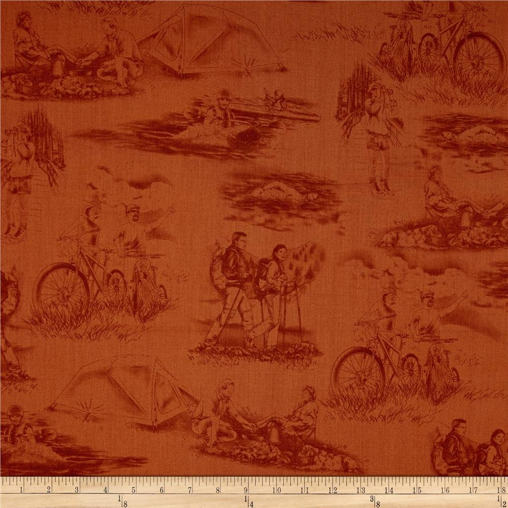 Our National Parks Toile Terracotta