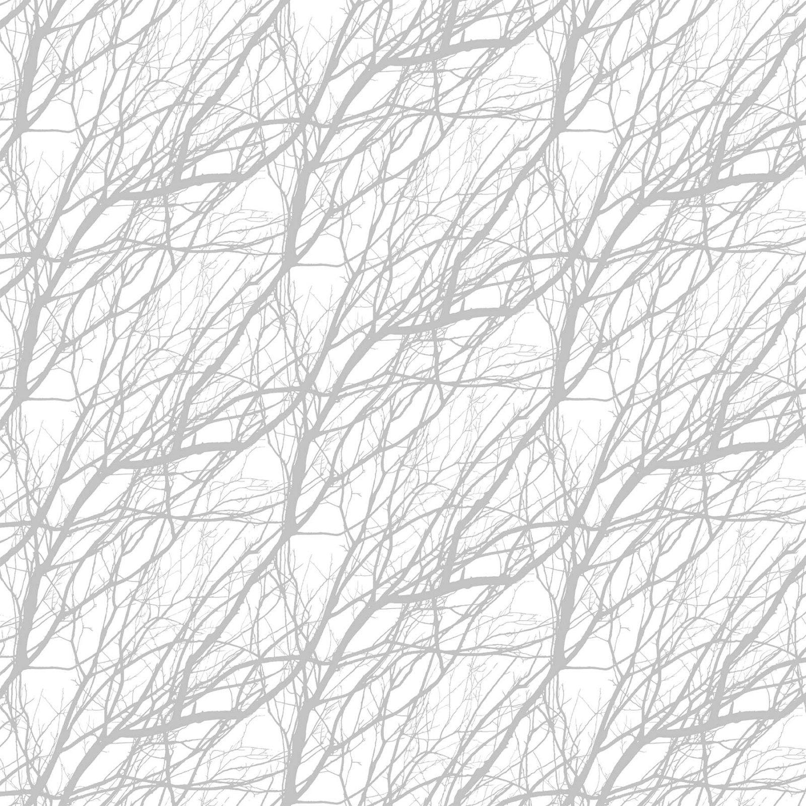 Silhouette Branches Gray/White