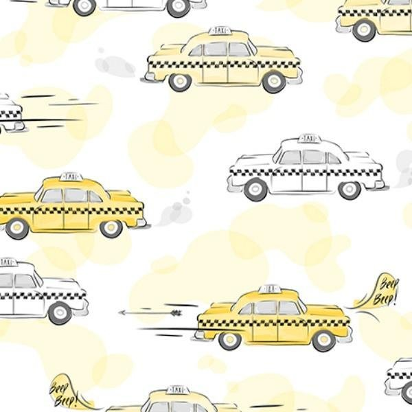 City Life Yellow Taxi Cab