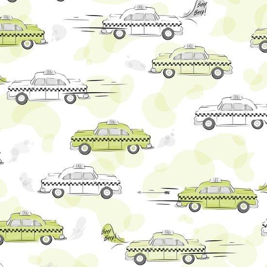 City Life Green Taxi Cab