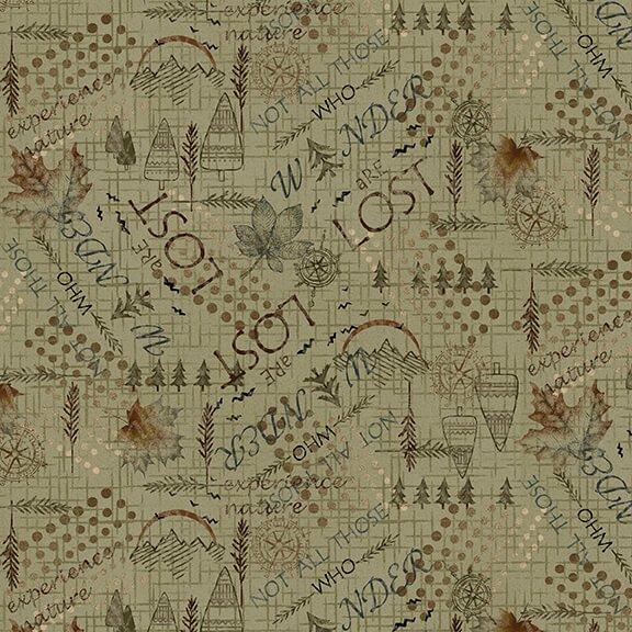 Folk Art Flannels 4 Mixed Media Green