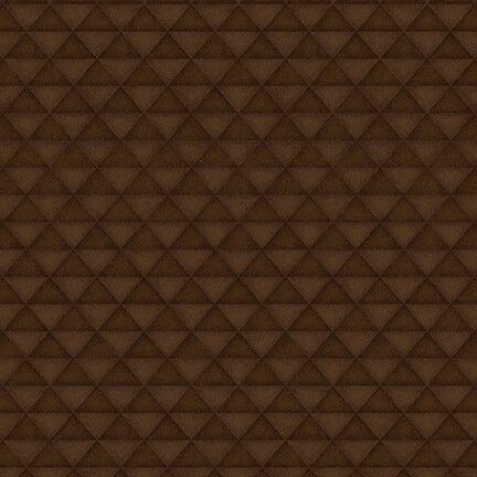 Folk Art Flannels 4 Half Square Triangles Brown