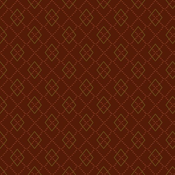 Folk Art Flannels 4 Argyle Rust