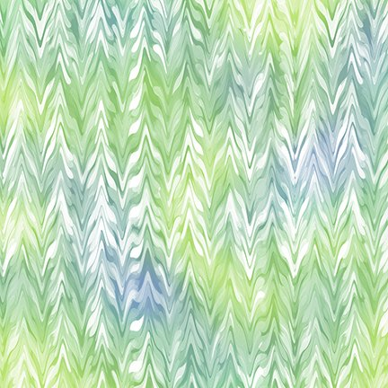 Belle - Watercolor Chevron Periwinkle /Jade