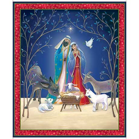 Christ is Born Nativity Panel (36x44) #82