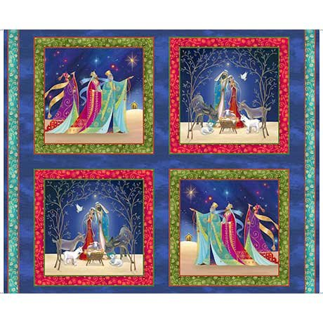 Christ is Born Nativity Picture Patches Panel (36x44) #83