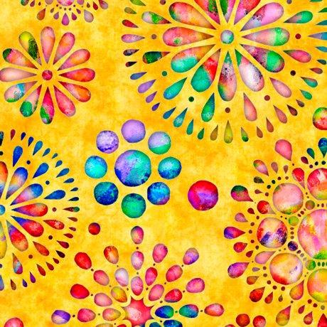 Brilliance Floral Burst Yellow