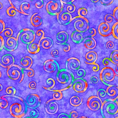 Brilliance Scroll Toss Purple