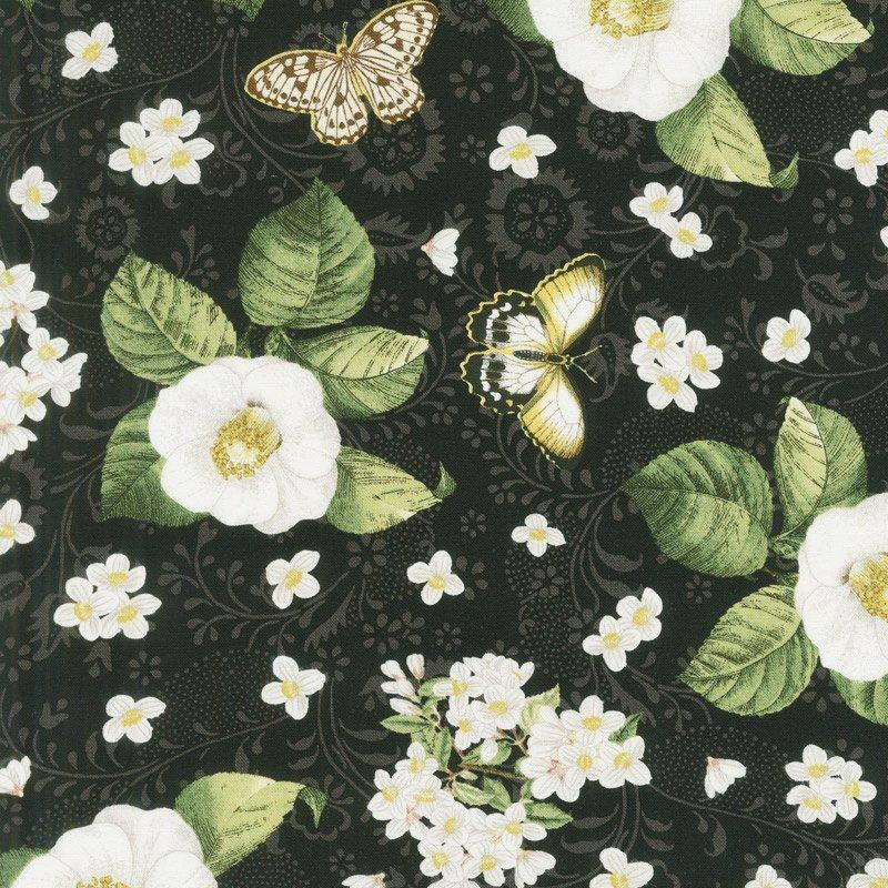 Chantrell Magnolias & Butterflies Black