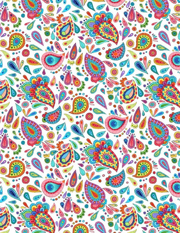 Live Out Loud Paisley Toss White