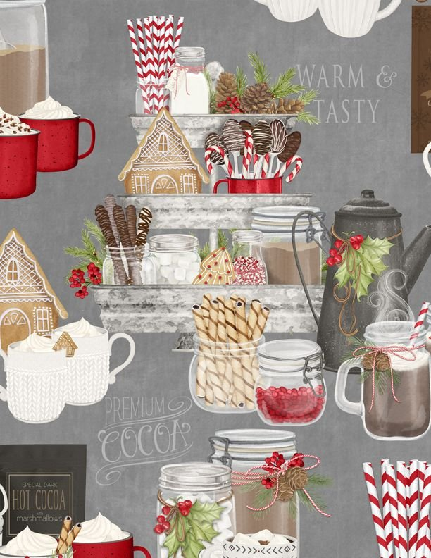 Hot Cocoa Bar Large Allover Gray - COMING SOON