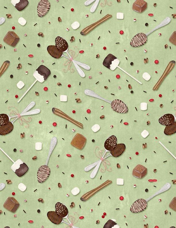 Hot Cocoa Bar Spoons & Sprinkles Lt. Green