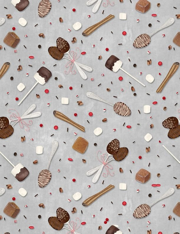 Hot Cocoa Bar Spoons & Sprinkles Lt. Gray