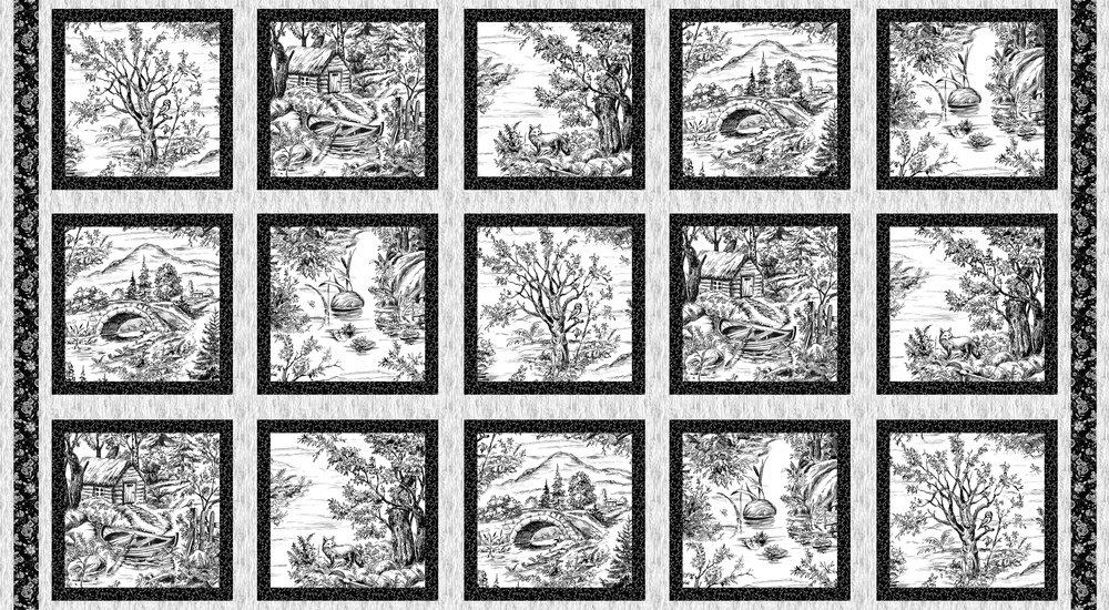 Woodland Forest Panel - Black