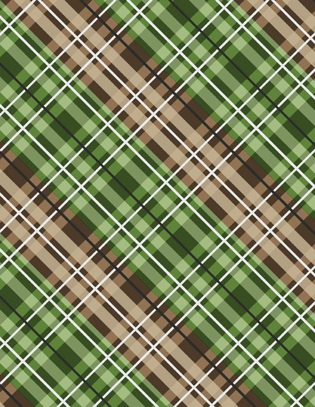 Cabin Welcome Flannel Plaid Green - COMING SOON