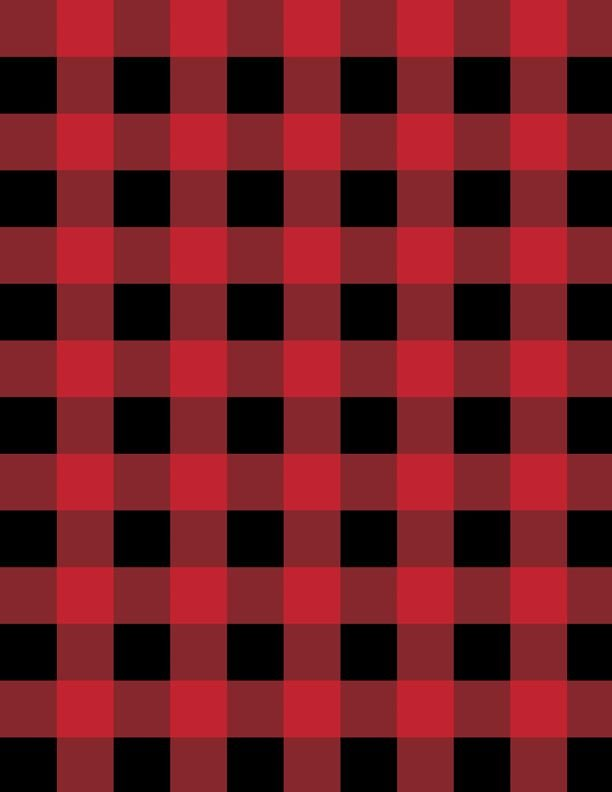 Cabin Welcome Flannel Buffalo Plaid Red