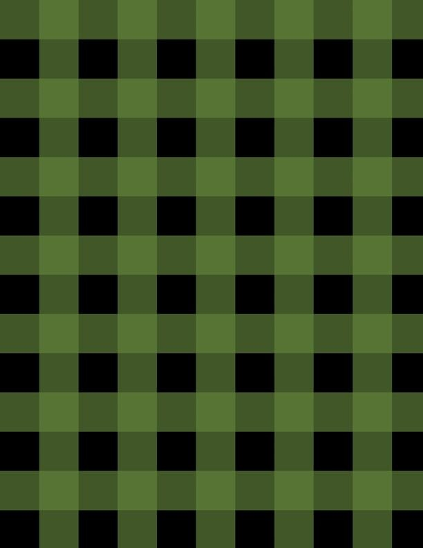 Cabin Welcome Flannel Buffalo Plaid Green