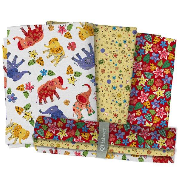 Playful Elephants 3 Yard Bundle