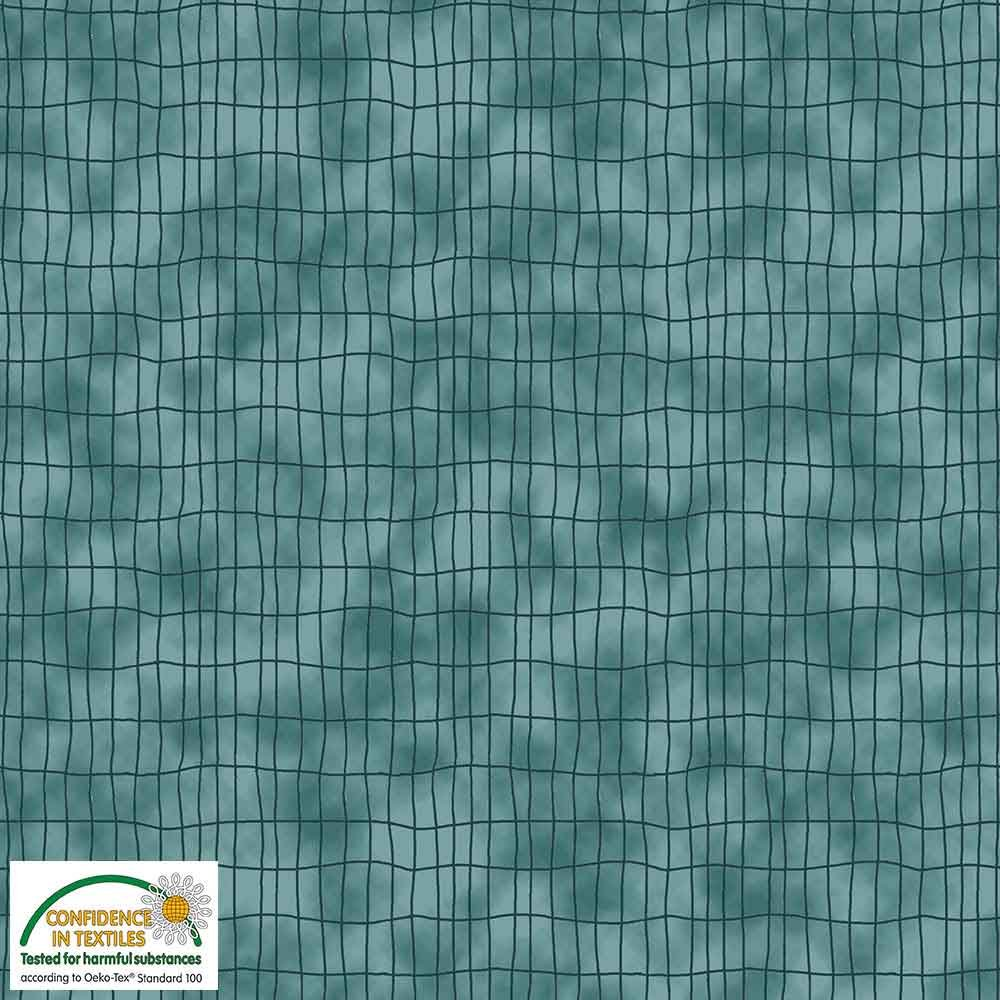 Quilters Combination Grids Teal 019