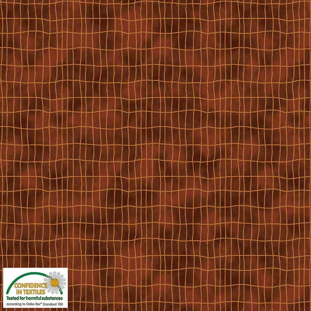 Quilters Combination Grids Brown 020