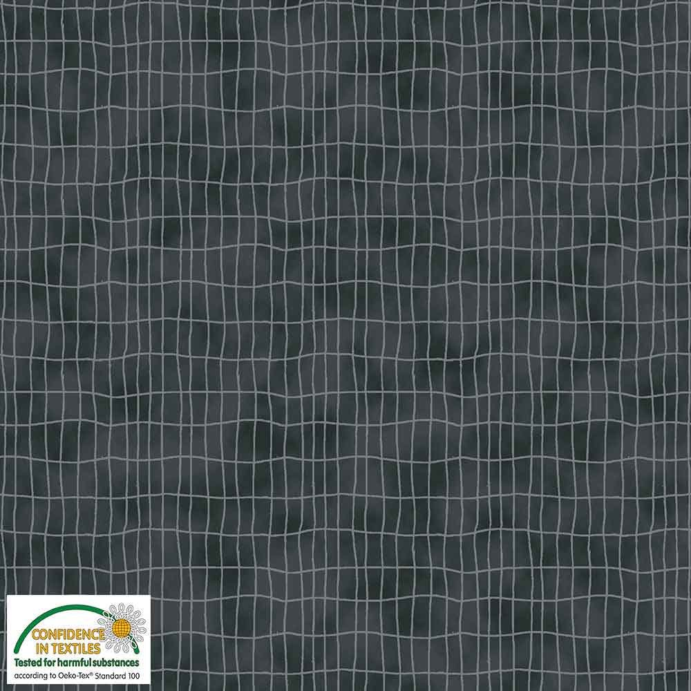 Quilters Combination Grids Dark Gray 022