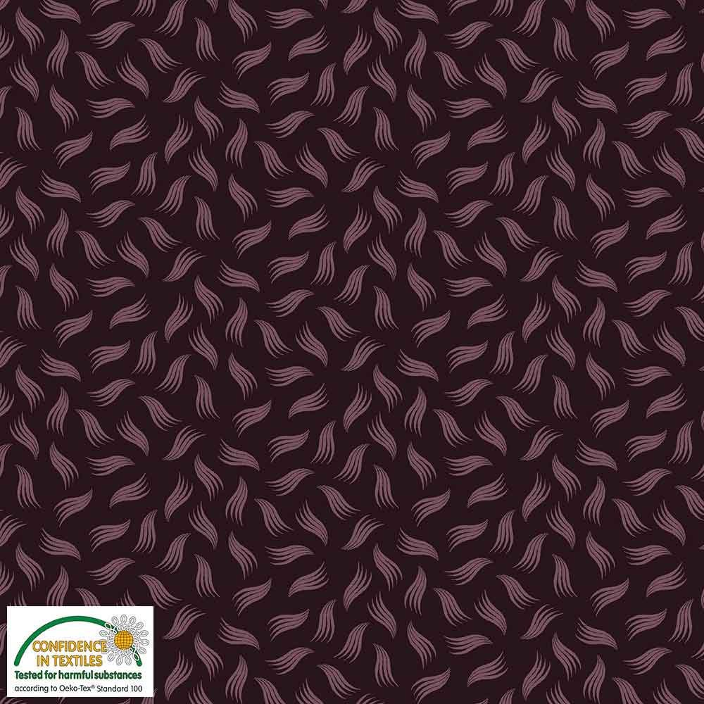 Quilters Combination Leaves & Feathers Plum 027