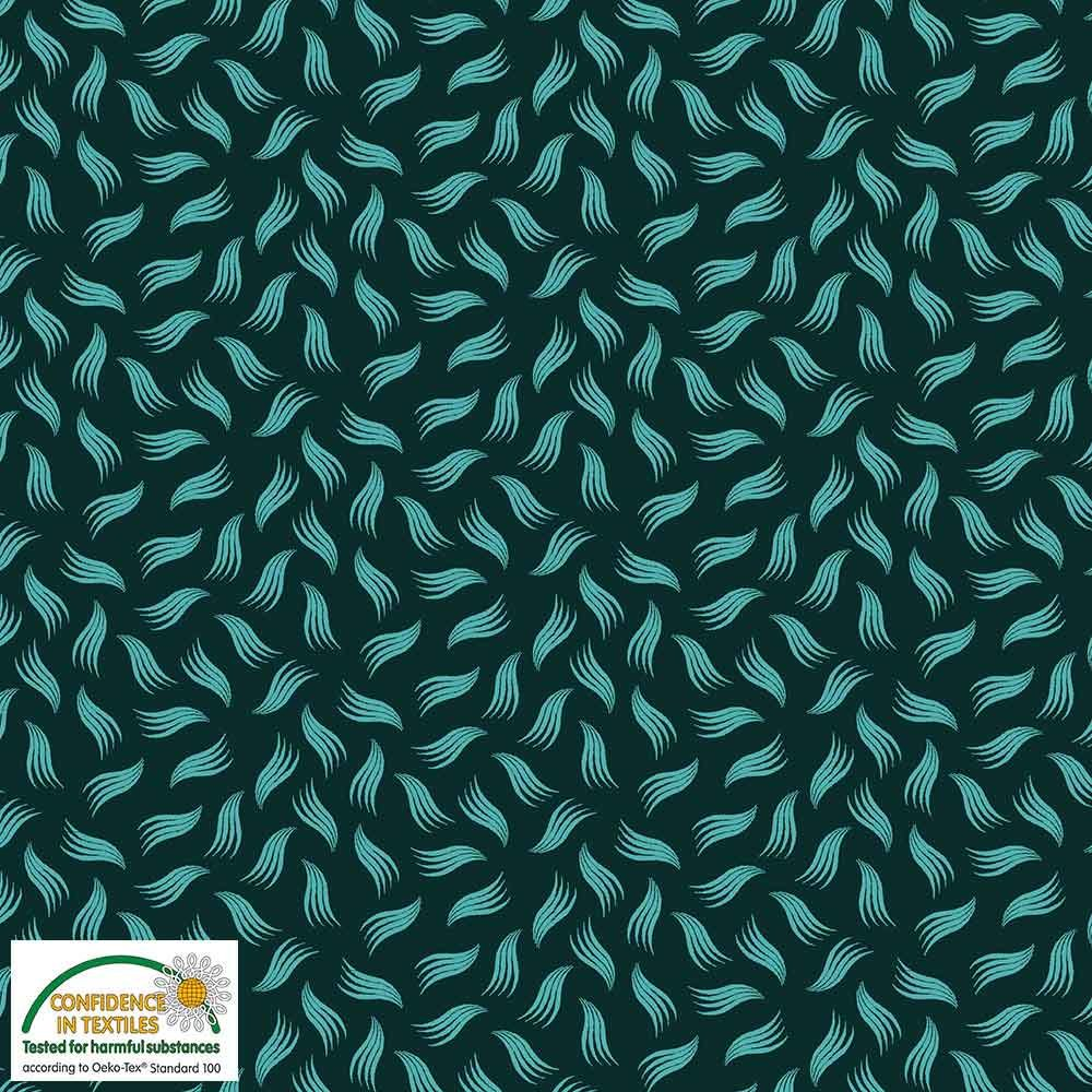 Quilters Combination Leaves & Feathers Green 028