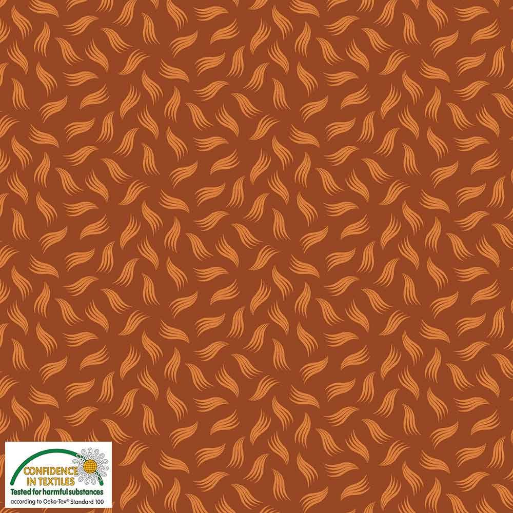 Quilters Combination Leaves & Feathers Cinnamon 029