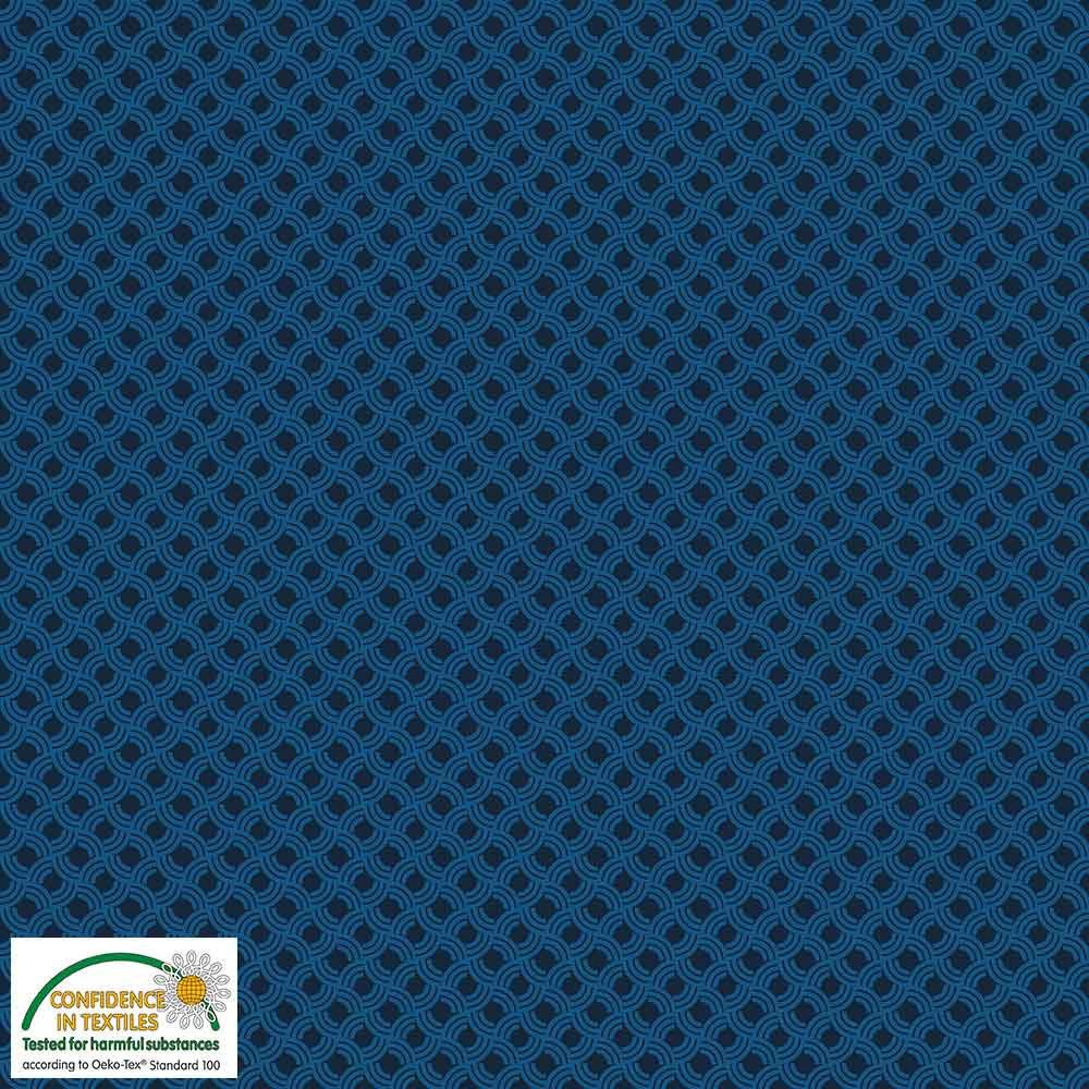 Quilters Combination Graphic Design Dk. Blue 034
