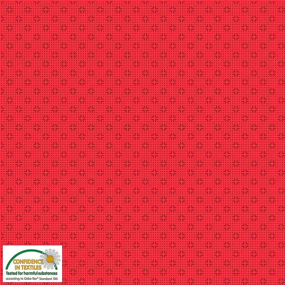 Quilters Combination Dots & Crosses Coral 036