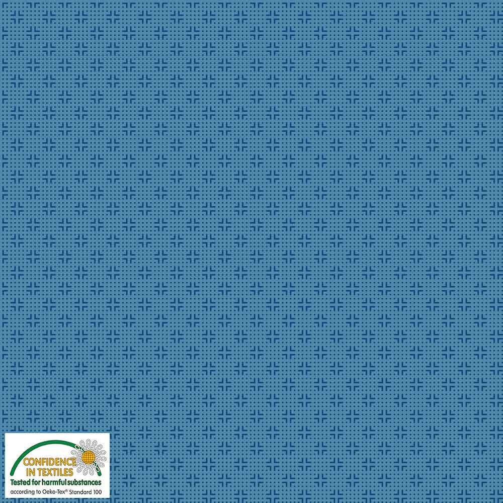 Quilters Combination Dots & Crosses Blue 037