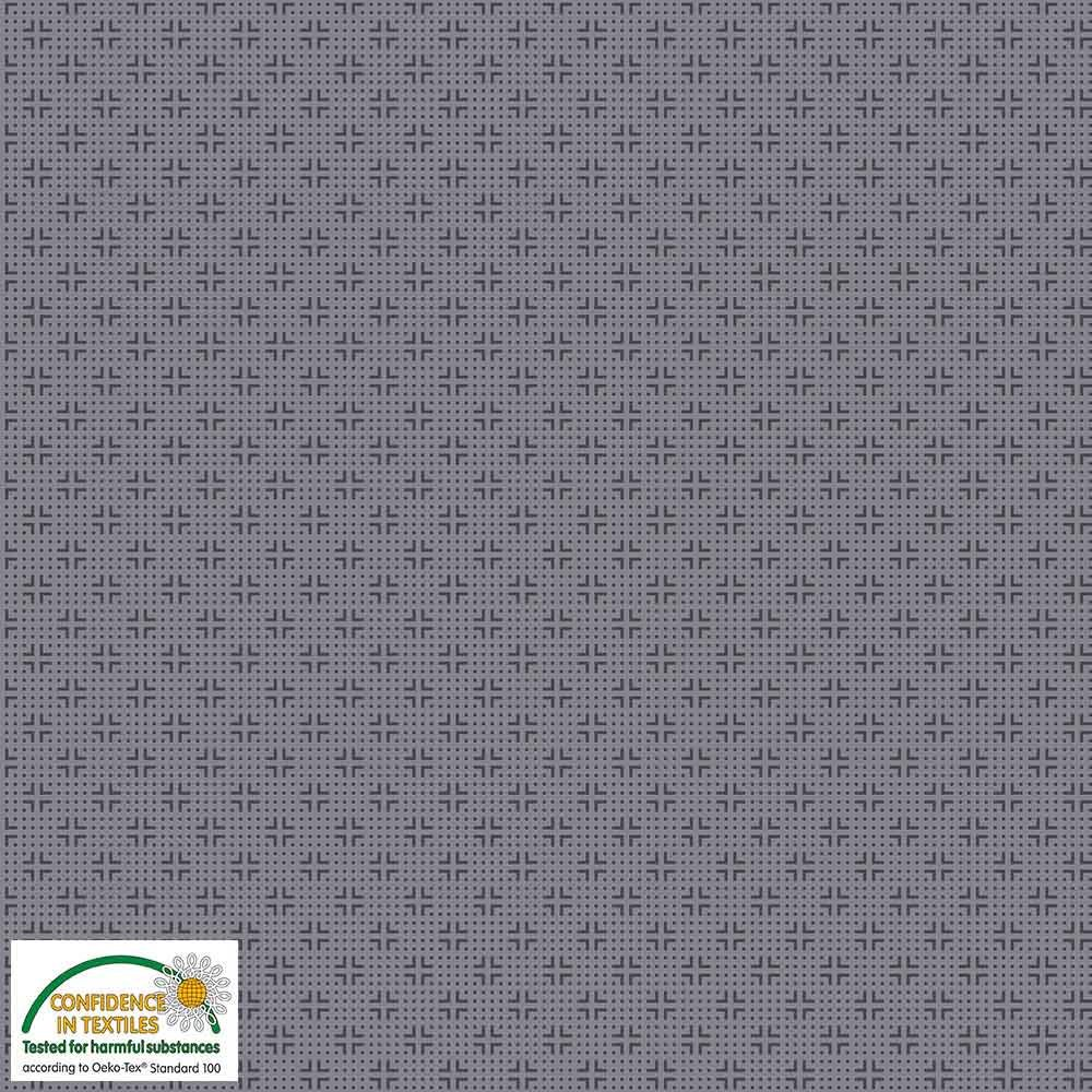Quilters Combination Dots & Crosses Gray 038