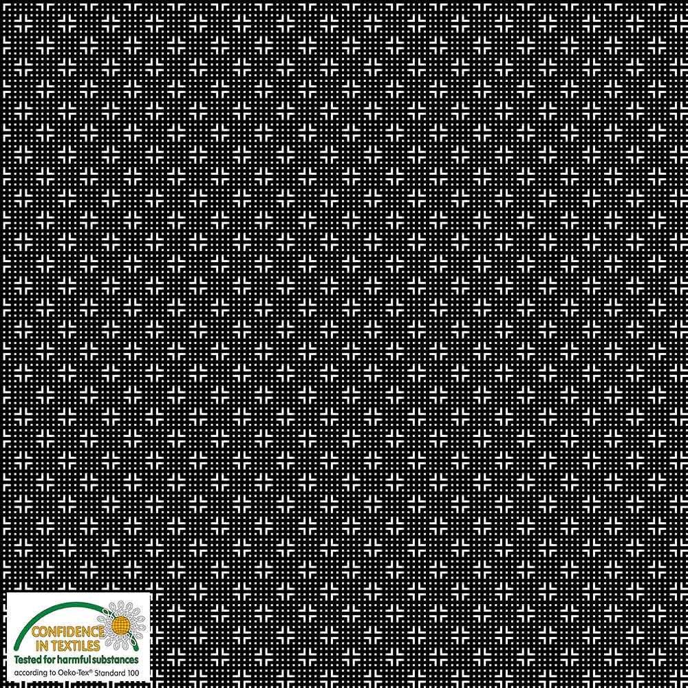 Quilters Combination Dots & Crosses Black 039