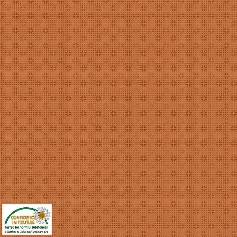 Quilters Combination Dots & Crosses Pumpkin 040