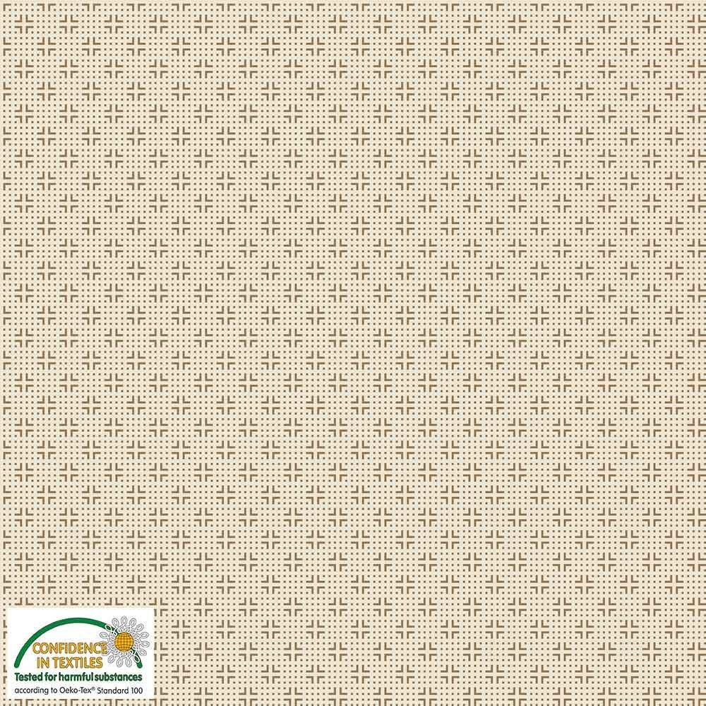 Quilters Combination Dots & Crosses Cream 041