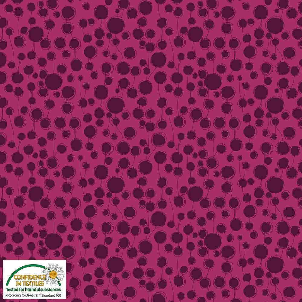 Quilters Combination Circles & Lines Cerise 050
