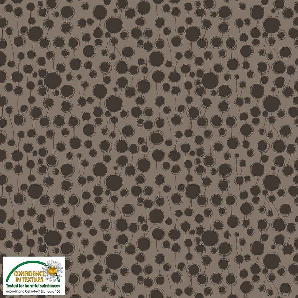 Quilters Combination Circles & Lines Taupe 052