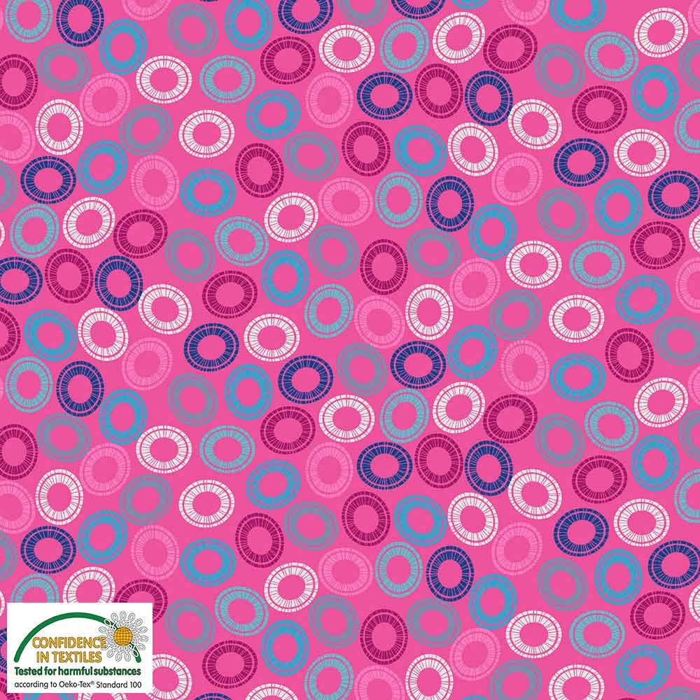 Quilters Combination Multi Circles Pink 055