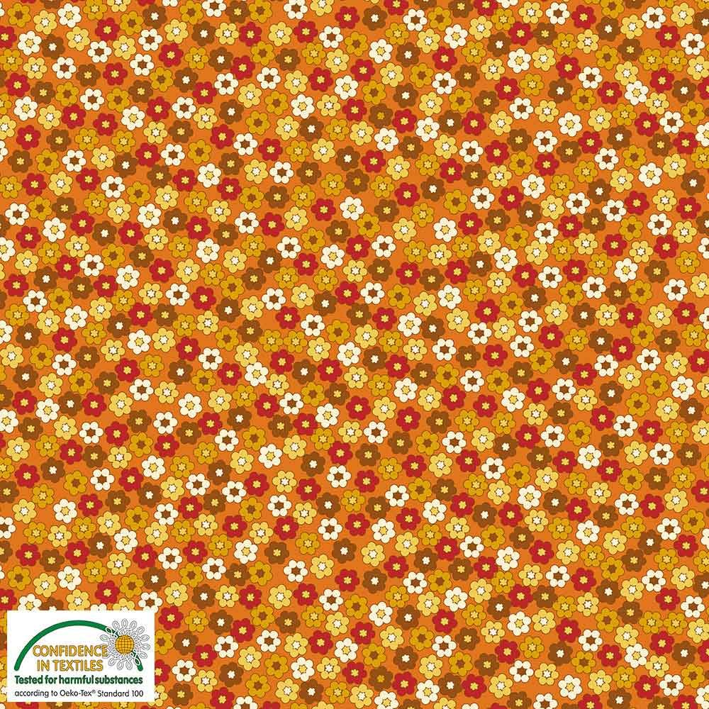 Quilters Combination Multi Flowers Amber 065