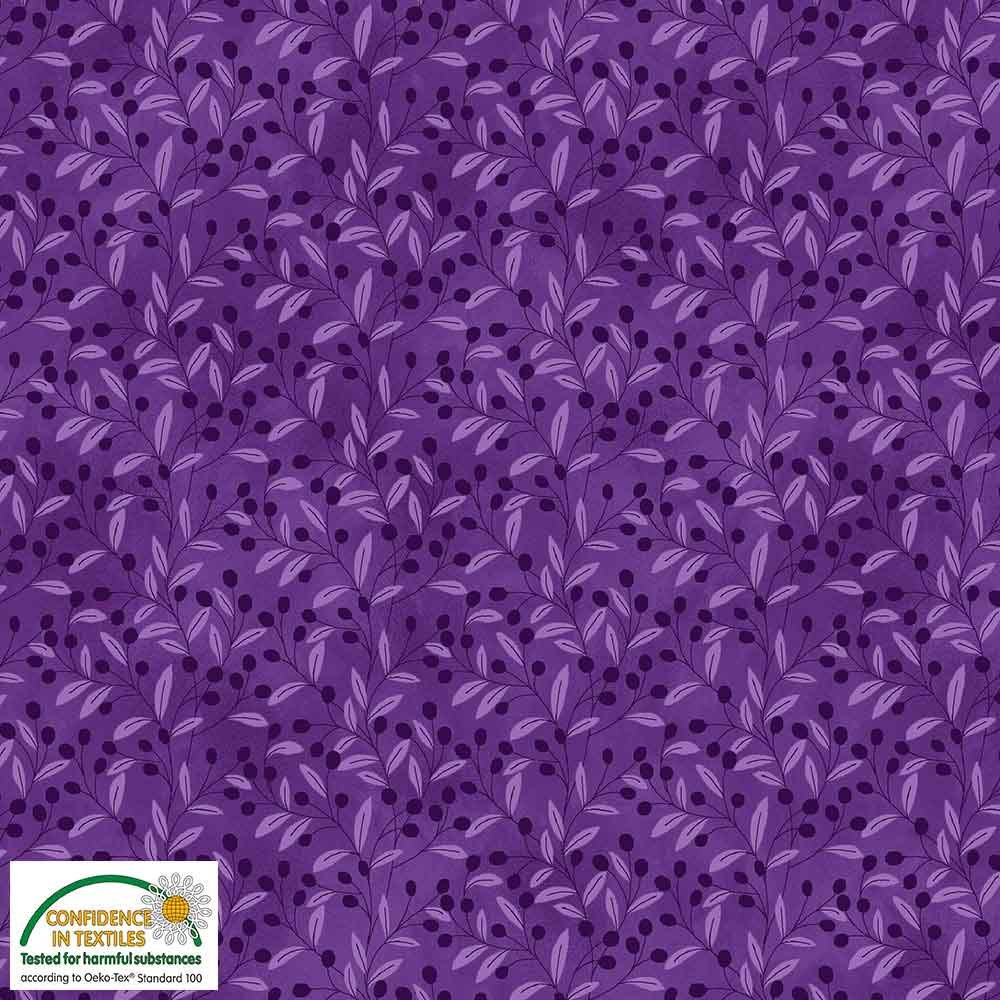 Quilters Combination Berries & Leaves Purple 073