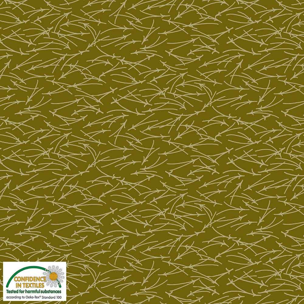Quilters Combination Lines Olive 078