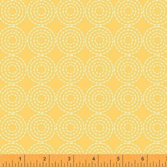 Dream Stitched Circles Yellow